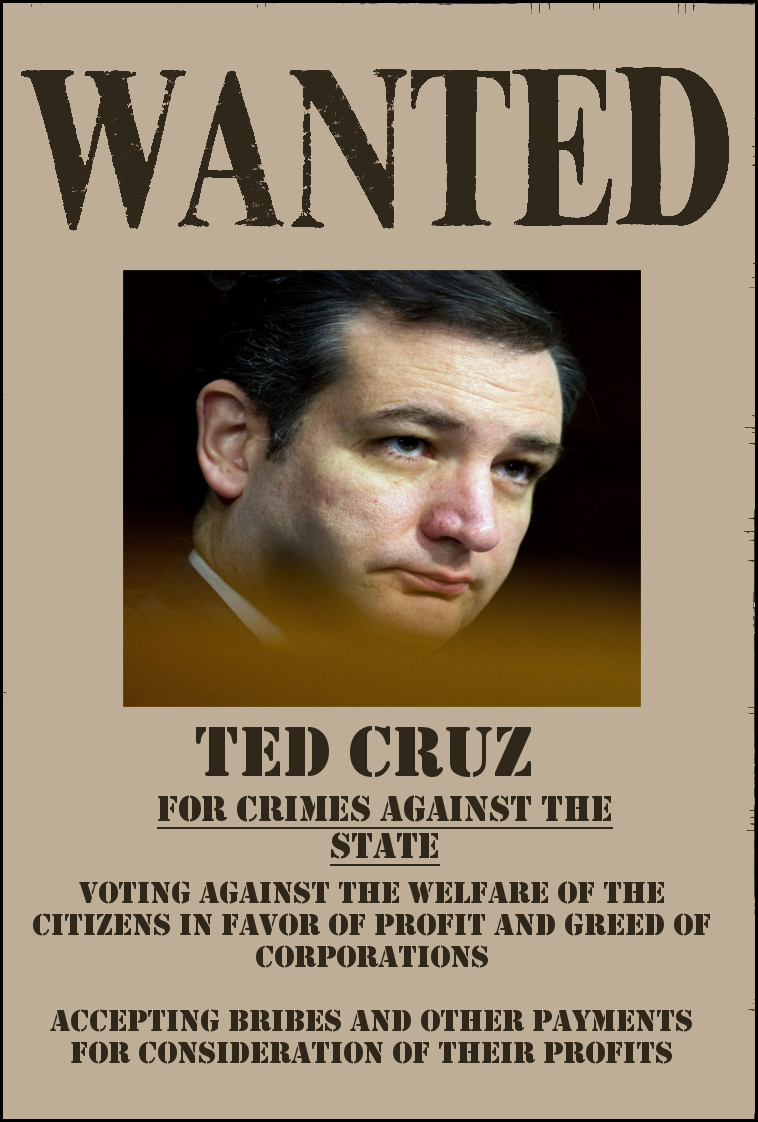 ted cruz wanted poster monsters and fools
